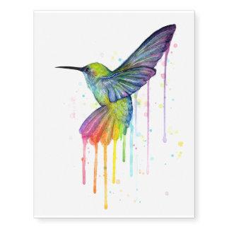 Hummingbird Temporarty Tattoo Watercolor Painting