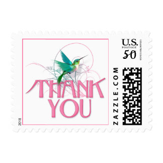 Hummingbird Thank You Postage
