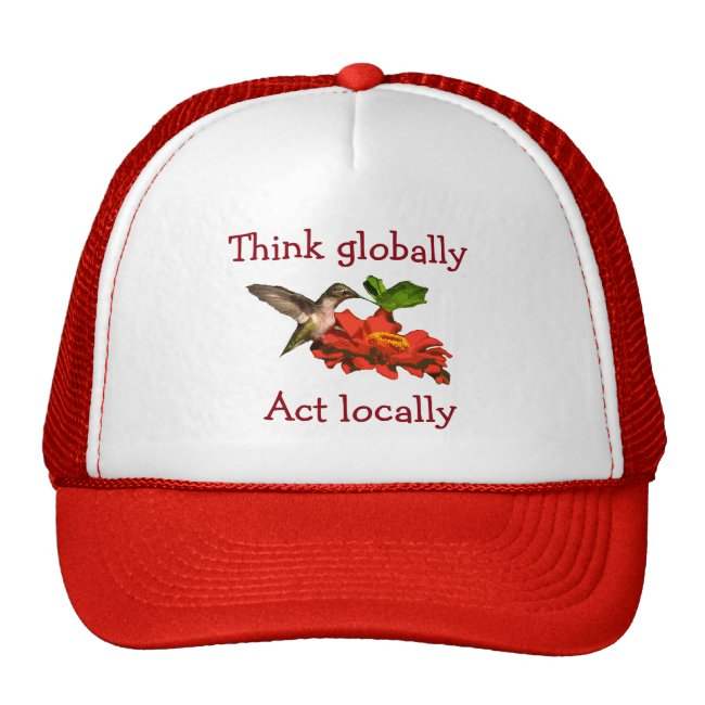 Hummingbird Think Globally Act Locally Red Hat