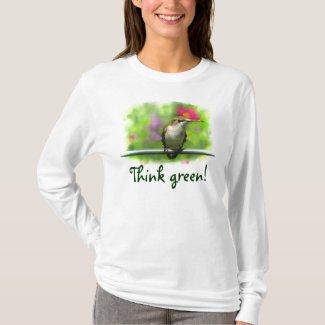 Hummingbird Think Green T-Shirt