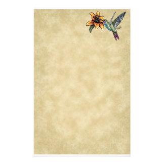 Hummingbird Tiger Lillie Fairy Art Stationery