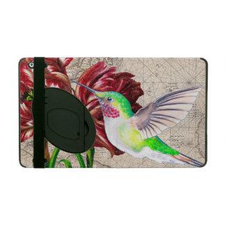 Hummingbird Tulip Map iPad Case