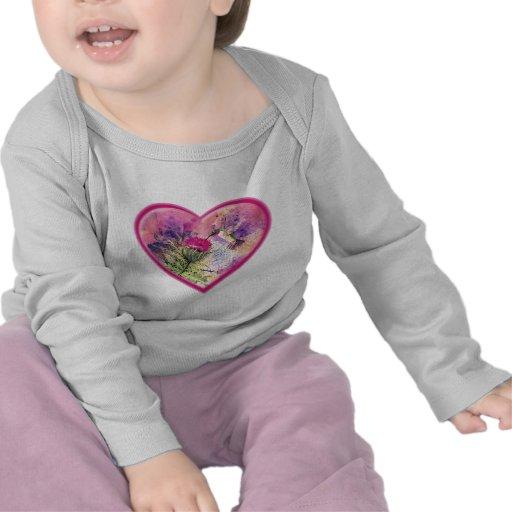 Hummingbird Valentine Watercolor Infant Tee Shirt