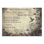 """Hummingbird Vintage Wedding Invitation 5"""" X 7"""" Invitation Card"""