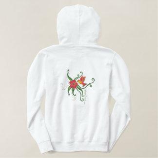 Hummingbird Visit Embroidered Hoodie