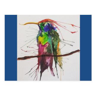 Hummingbird Watercolor Postcard