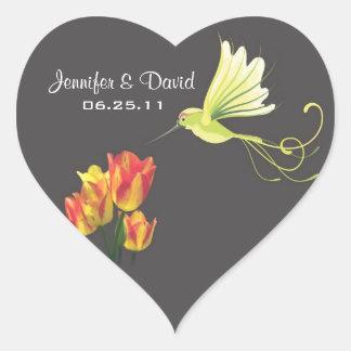 Hummingbird Wedding Favor Sticker