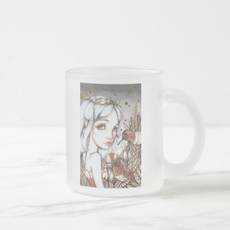 Hummingbird Whisper Frosted Glass Coffee Mug