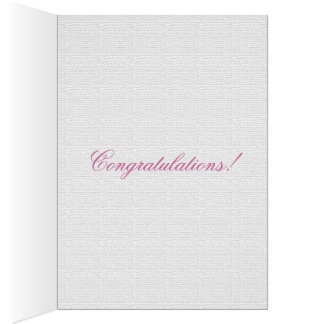 Hummingbird White and Pink Card
