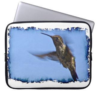 Hummingbird White Edge Laptop Sleeves