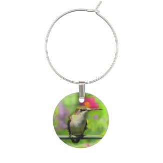 Hummingbird Wine Charm