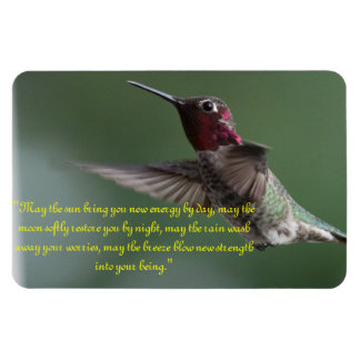 Hummingbird with Apache Saying Magnet