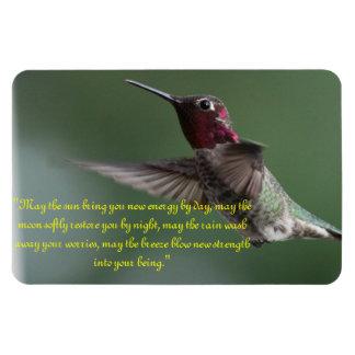 Hummingbird with Apache Saying Rectangular Photo Magnet