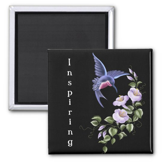 Hummingbird with Flowers 2 Magnet