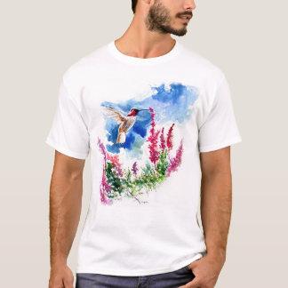 Hummingbird with Wooley Blue Curls T-Shirt