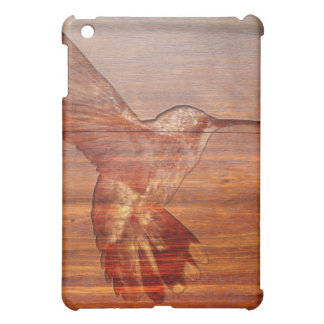 Hummingbird wood carving iPad mini cover
