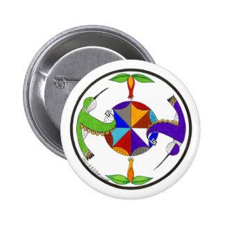 Hummingbirds 1 2 inch round button