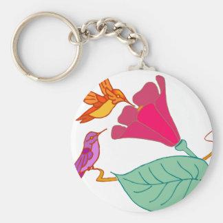 Hummingbirds 1 basic round button keychain