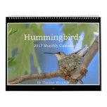 Hummingbirds 2017 Monthly Calendar By Tom Minutolo