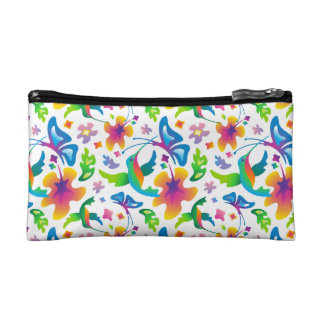 Hummingbirds and butterflies cosmetic case