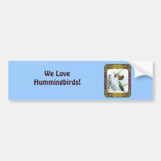Hummingbirds and Flowers #2 Bumper Sticker