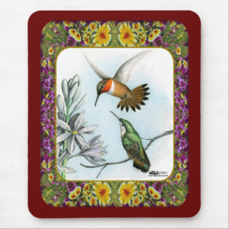 Hummingbirds and Flowers #2 Mouse Pad