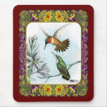 Hummingbirds and Flowers #2 Mousepads