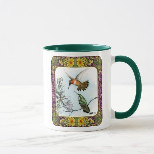 Hummingbirds and Flowers #2 Mug
