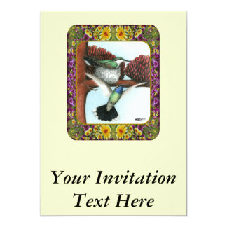 Hummingbirds and Flowers #3 Card