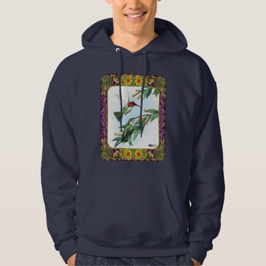 Hummingbirds and Flowers #4 Hoodie