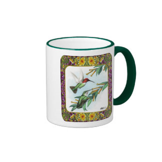 Hummingbirds and Flowers #4 Mugs