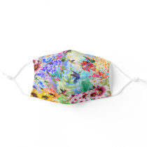 Hummingbirds and Flowers Adult Cloth Face Mask