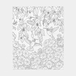 Adult Coloring Pages Throw Fleece Custom Blankets Zazzle