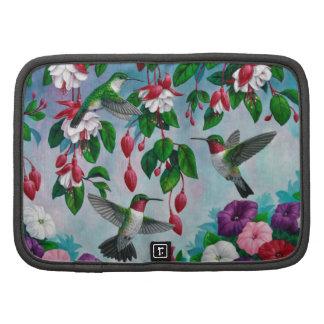 Hummingbirds and Flowers Folio Planners