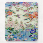 Hummingbirds and flowers stained glass WOW Mouse Pad
