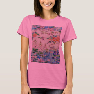HUMMINGBIRDS and FLOWERS T-Shirt