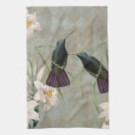 Hummingbirds and Lilies Kitchen Towels