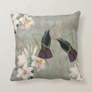Hummingbirds and Lilies Pillow