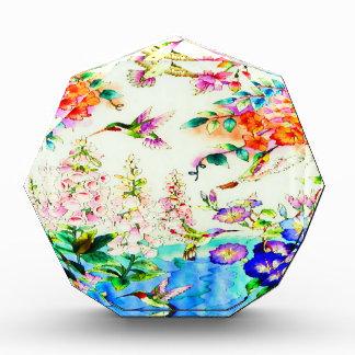 Hummingbirds and Pink Flowers Landscape Award
