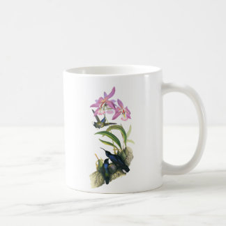 Hummingbirds and Pink Orchids Classic White Coffee Mug