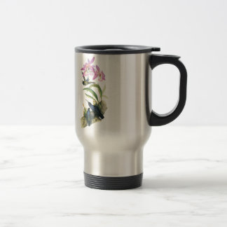 Hummingbirds and Pink Orchids 15 Oz Stainless Steel Travel Mug