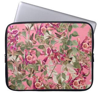 Hummingbirds Audubon Floral Flowers Laptop Sleeve