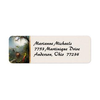 Hummingbirds Avery Label Return Address Label