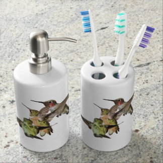 Hummingbirds bathroom set