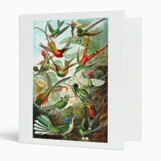 Hummingbirds Vinyl Binder