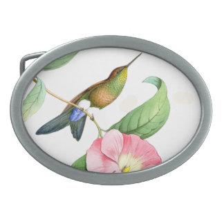 Hummingbirds Birds Flowers Floral Animals Wildlife Belt Buckle