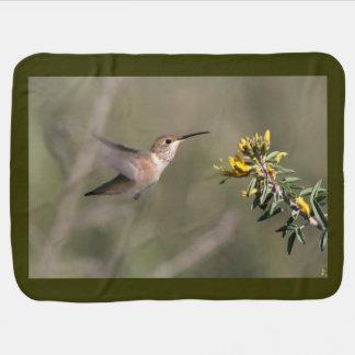 Hummingbirds Birds Flowers Floral Wildlife Animals Baby Blanket