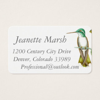 Hummingbirds Birds Flowers Floral Wildlife Animals Business Card