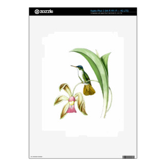 Hummingbirds Birds Flowers Floral Wildlife Animals Decal For iPad 3