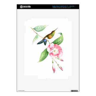 Hummingbirds Birds Flowers Floral Wildlife Animals Decals For iPad 3